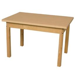 Wood Designs HPL244822C6 Mobile Rectangle High Pressure Laminate Table With Hardwood Legs, 22 in.