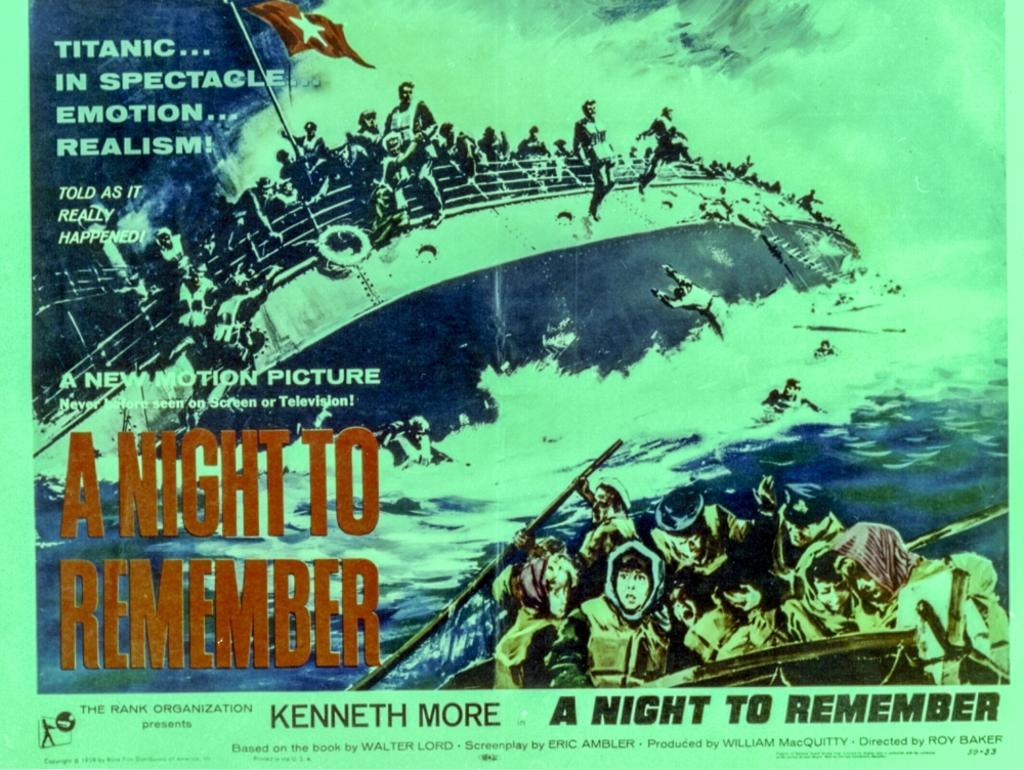 A promotional poster for A Night To Remember Photo Print