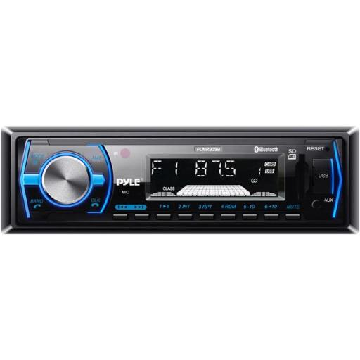 Bluetooth In-Dash Stereo Radio Headunit Receiver, Wireless Music Streaming, Hands-Free Call Answering, MP3 Playback, USB & SD Card Readers, 3.5mm Aux