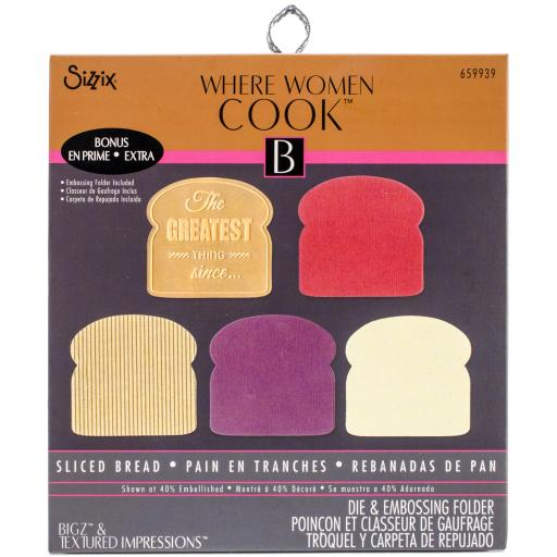 "Sizzix Bigz Die W/Bonus Textured Impressions 5.5""X6""-Sliced Bread By Where Women Cook SANV4WLIQFRBZB5H"