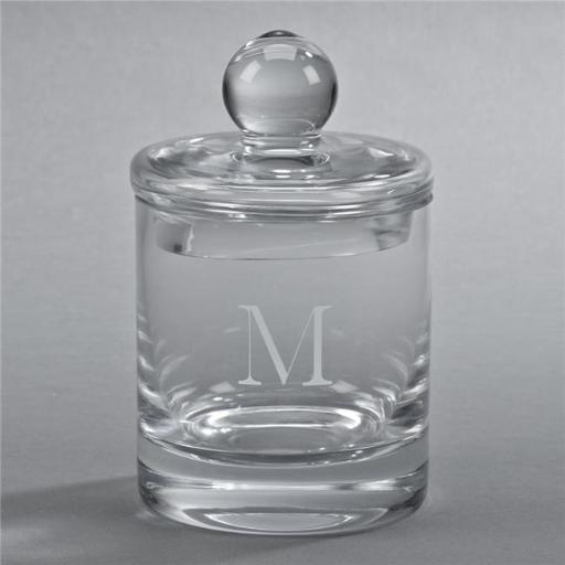 Creative Gifts International 060516 5 in. Simon Optic Crystal Biscuit Barrel