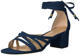 Adrienne Vittadini Womens Alesia Suede Open Toe Casual Ankle Strap Sandals
