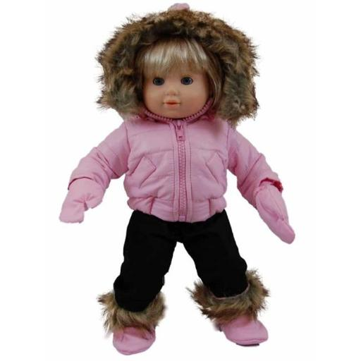 The Queens Treasures BBCSWP Pink Snow Suit Outfit for 15 in. American Girl Bitty Baby A606C36B3681CE7C