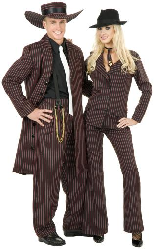 Zoot Suit Adult Costume Black and White, Black and Pink, Black and Red Men 3X (56-60),Men XL (46-48),Men XS, Men 1X (48-52),Men L (42-44),Men M.