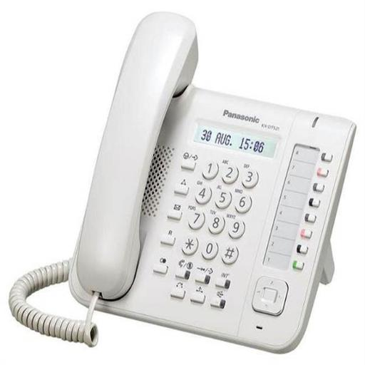 Panasonic Business Systems KX-DT521 8 Button 1-Line Backlit LCD Display Digital Telephone with Full Duplex Speaker Phone White