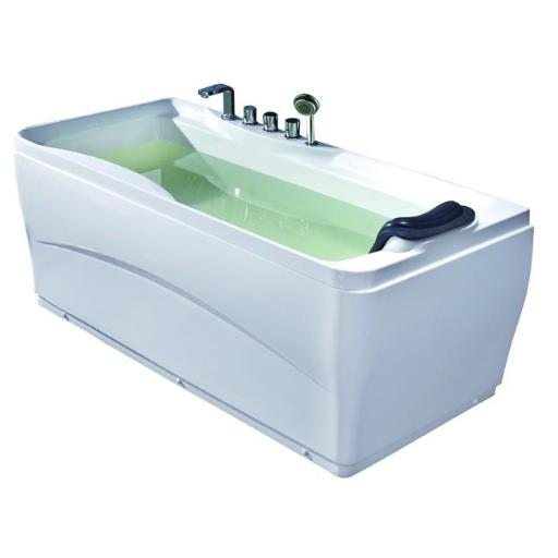 EAGO LK1102-L White Acrylic 63 inch Soaking Tub with Fixtures