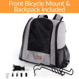K&h pet products 100542372 gray k&h pet products travel bike backpack for pets gray 9.5 x 14 x 15.75