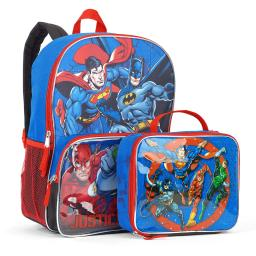 Dc Comics Justice League 16-inch School Backpack With Lunch Bag Set
