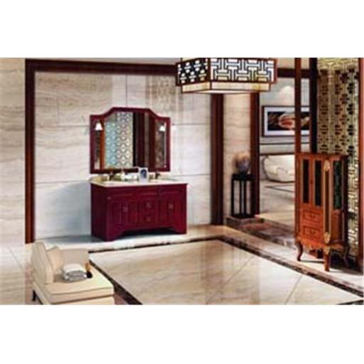 Dawn Kitchen RTM580141-04 Solid Wood And Plywood Frame Heavy Reddish Brown Finish Mirror