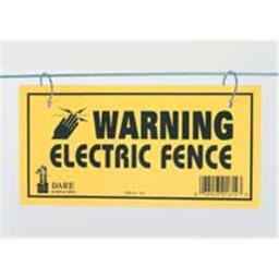 Dare Products Electric Fence Warning Sign 3 Yellow - 1614-3