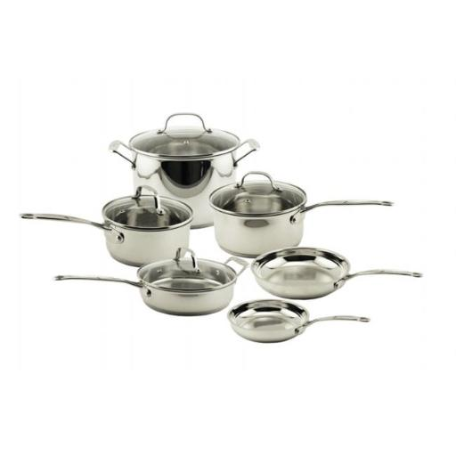 BergHOFF 2211500 EarthChef Premium Copper Clad Cookware Set With Glass Lids - 10 Pieces