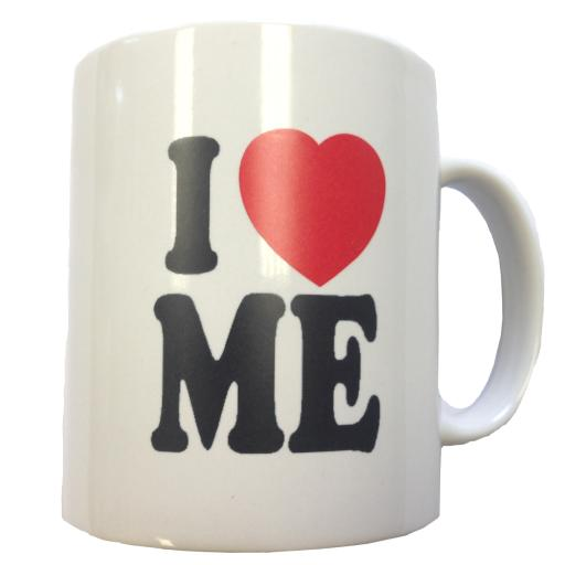 I Love Me Coffee Mug Modern Family Mitchell Pritchett Cameron Heart <3 Cup Gift
