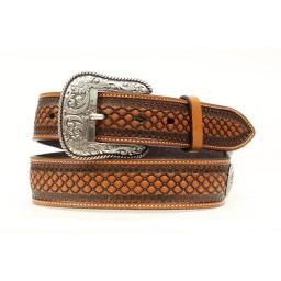 ariat-36-inch-western-leather-beaded-basketweave-floral-conchos-mens-belt-fe480f16dbe86a5f
