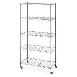 Whitmor 6070-7666 rolling cart 5tier black
