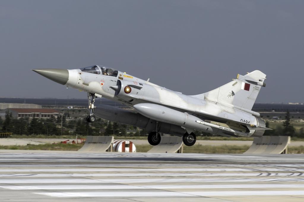 A Qatar Emiri Air Force Mirage 2000-5EDA/5DDA attending the international Exercise Anatolian Eagle 2014-2 in Konya, Turkey Poster Print