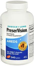 Bausch + Lomb Preservision Tablets - 240 Ct, Pack Of 4