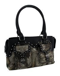 Realtree Camouflage Studded Pouch Pocket Shoulder Bag