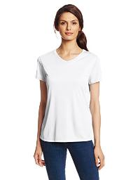 Hanes Sport Women's Cool DRI Performance V-Neck Tee,White,X-Large 483V