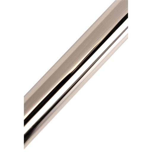 72 in. Edenscape Americana Adjustable Stainless Steel Tube for Shower Curtain Rod Use Only, Polished Chrome