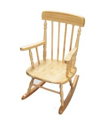 Gift Mark Deluxe Child's Spindle Rocking Chair - Natural