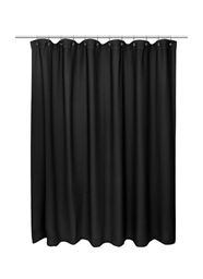 "American crafts Waffle Weave 100% Cotton Shower Curtain - 72"" Wide X 84"" Long - Black"