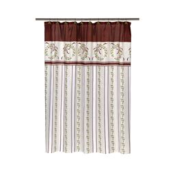 Carnation Home Fashions Victorian Christmas Fabric Shower Curtain