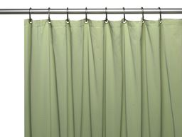 "American crafts 8 Gauge ""Hotel Collection"" Vinyl Shower Curtain Liner With Metal Grommets - Sage - 72"" X 72"""