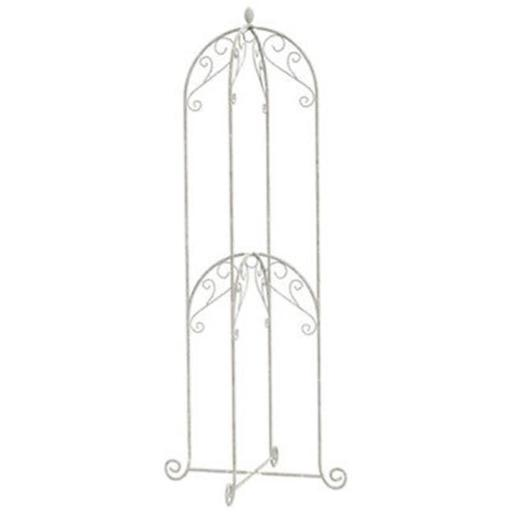 Panacea Products 200666 60 in. French Country Scroll Double Basket Stand