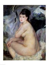 Nude Seated on a Sofa, 1876 Poster Print by Pierre-Auguste Renoir BALBAL37592