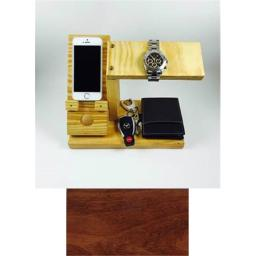 Products 4 Home All-In-One Phone Charging Station, Watch Stand, and Valet Organizer - Cherry