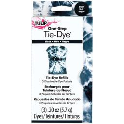 Tulip One-Step Tie-Dye Refill .13oz 3/Pkg-Black TFDRF-29038