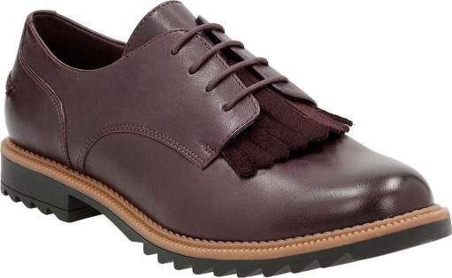 CLARKS Womens Griffin Mabel Round Toe Oxfords YVHQEE9OZFGCOUHS