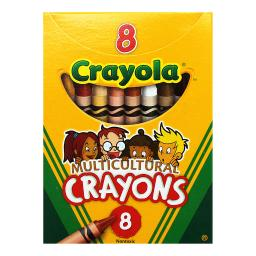 CRAYOLA LLC MULTICULTURAL CRAYONS REG 8PK (Set of 24)