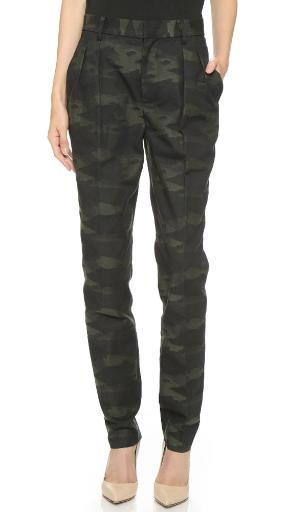 BLK DNM Women's Pant 23, Green Camo, US 4