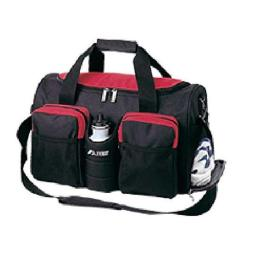 Everest S223-RB 18 in. 600 Denier Polyester Sports Duffel Bag with Wet Pocket