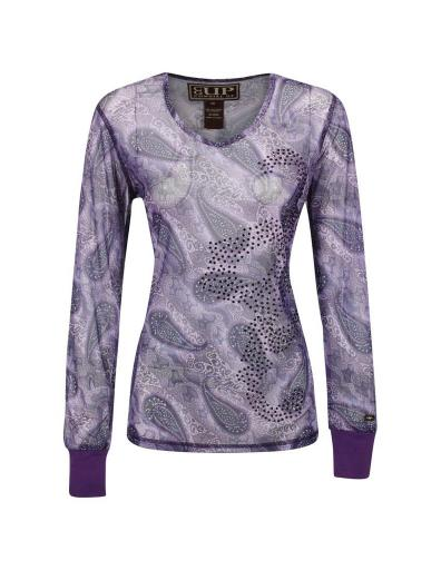 Cowgirl Up Shirt Womens Ribbed Cuffs Floral Paisley L/S CG30705 F56A687FFE4EDF71
