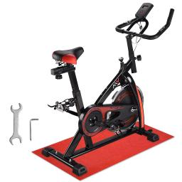 AW Fitness Gym Exercise Bike Bicycle Cycle Trainer Cardio Workout Indoor Home Black