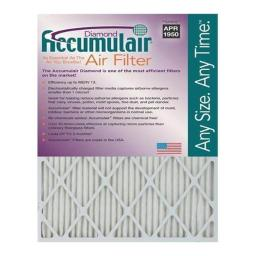 Accumulair FD18X27A 18 x 27 x 1 in. MERV 13 Actual Size Diamond Filter FD18X27A