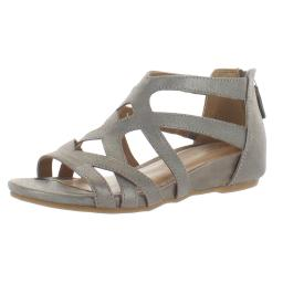 Comfortiva Womens Mayra Suede Memory Foam Strappy Sandals