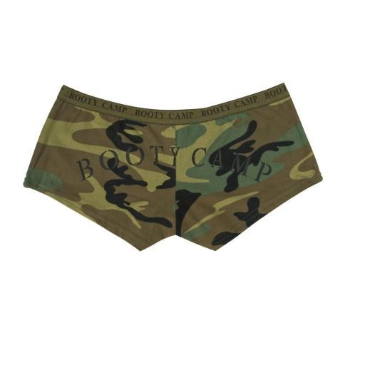 Womens Camo Booty Camp Shorts, Underwear, Panties