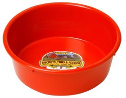 Miller P-5 Red Plastic Feed & Water Pan, 5 Qt, Red