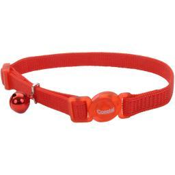 "Safe Cat 3/8"" Adjustable Snag-Proof Nylon Breakaway Collar-Red"