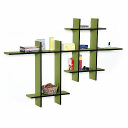 Secret Garden-MEGALeather Cross Type Shelf / Bookshelf / Floating Shelf(9 pcs)