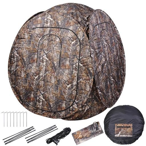 "60x60x68"" Pro Hunting Blind Tent 300D Polyester Fibre w/ Carrying Case Outdoor Sport View thumbnail"