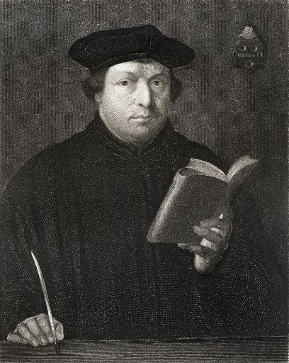 Martin Luther 1483-1546. German Theologian And Religious Reformer. From The Book Gallery Of Portraits? Published London 1833. PosterPrint