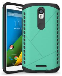 TEAL MINT ARMOR SHIELD TPU RUBBER CASE COVER FOR MOTOROLA DROID TURBO 2 XT1585
