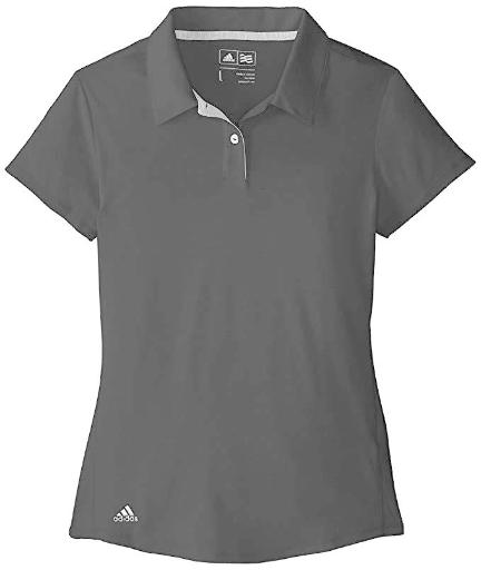 adidas Golf Kids GIRLS Climalite Essentials Short Sleeve Heathered Polo SZ: L