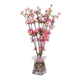 Vickerman F12199 Pink Blossom Arrangement Everyday Floral - 24 in.