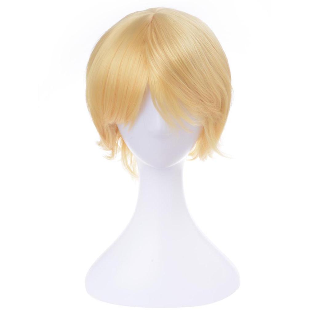 "Golden 30cm/12"" Hair Wig High-temperature Synthetic Fiber Men Cosplay Party Costume Fashion Fun"