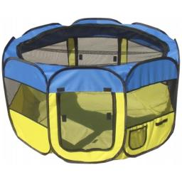 Pet Life LLC 1PPYLBLG All-Terrain' Lightweight Easy Folding Wire-Framed Collapsible Travel Pet Playpen